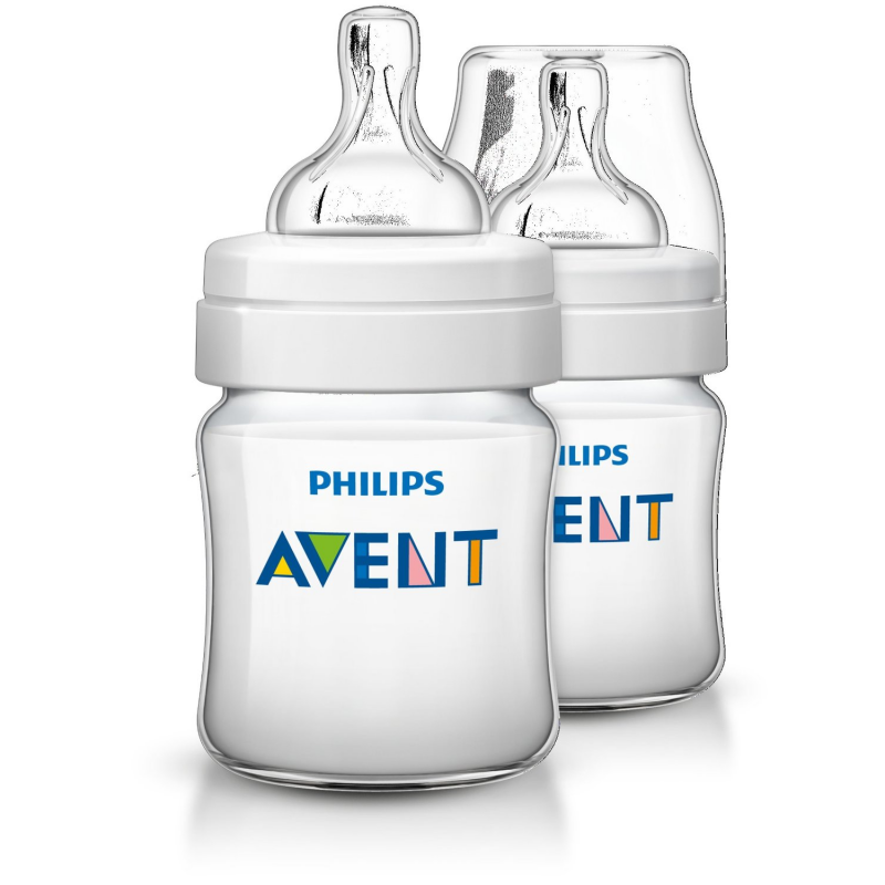 3 Pack Philips Avent BPA Free Natural Anti-Colic 4oz Baby Bottle