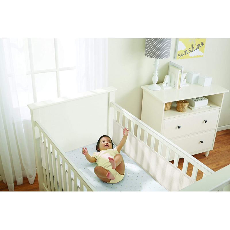 BreathableBaby Two-Sided Mesh Cot Liner – Ecru