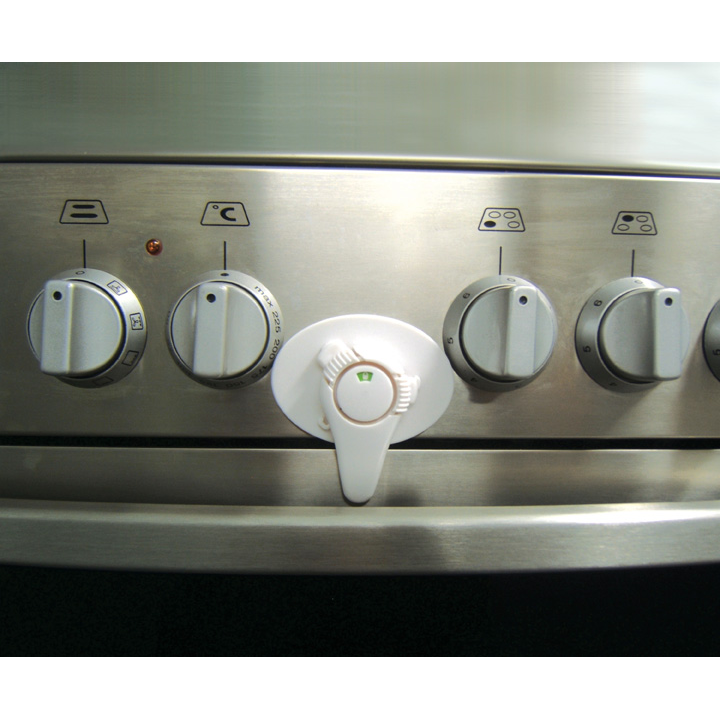 Strong Heat Resistant Dreambaby Swivel Oven Lock with EZ Check Indicator White