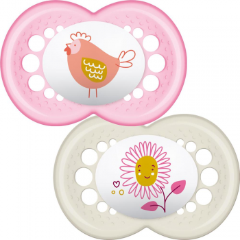 MAM Original Soother - 12m+ - Pink - Twin Pack