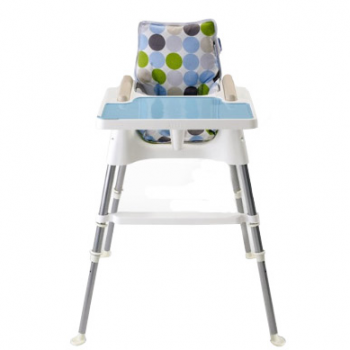 Beaba Cube Multifunctional Highchair – White and Turquoise