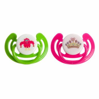 Junior Macare Silicone Orthodontic Soothers – 6m+ – Twin Pack