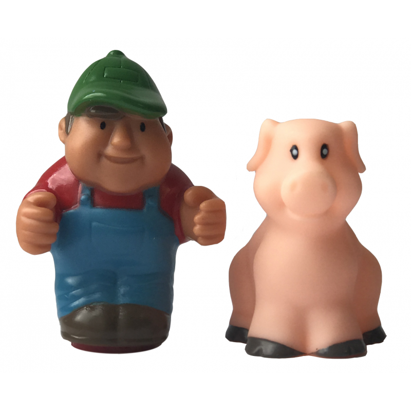 Tomy Johnny and Friends Farm Adventure Playset - Corey and Pig