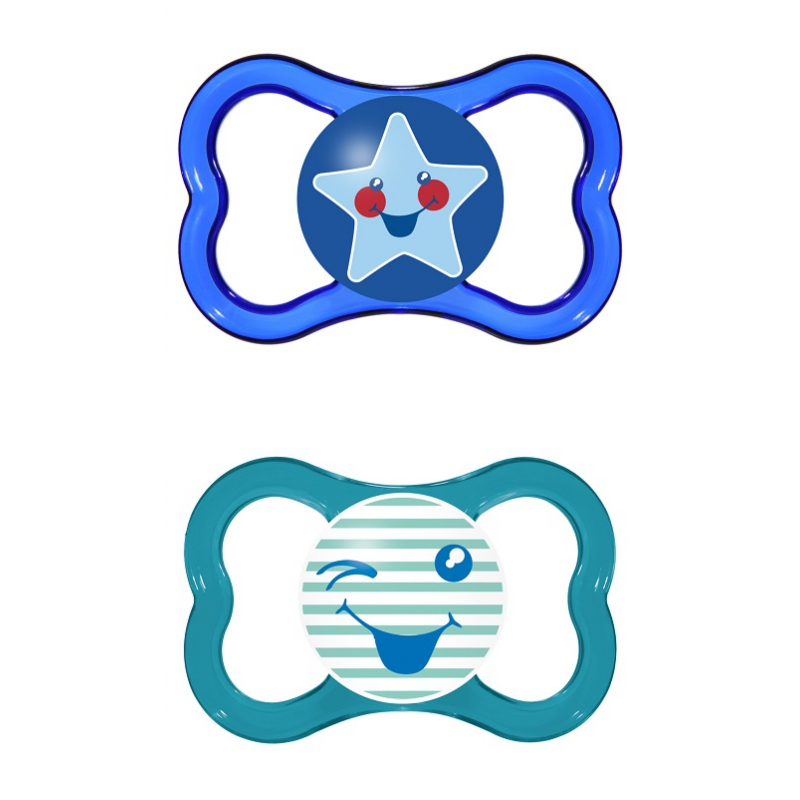 MAM Air Soother - 6m+ - Blue - Twin Pack