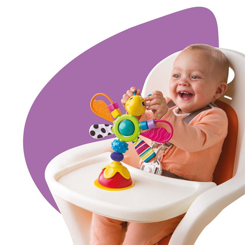 Freddie The Firefly Infant Table Top Toy Highchair Meal Time Baby Rattle NEW