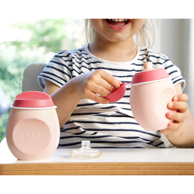 Beaba BabySqueez' 2 in 1 Food Pouch – Pink