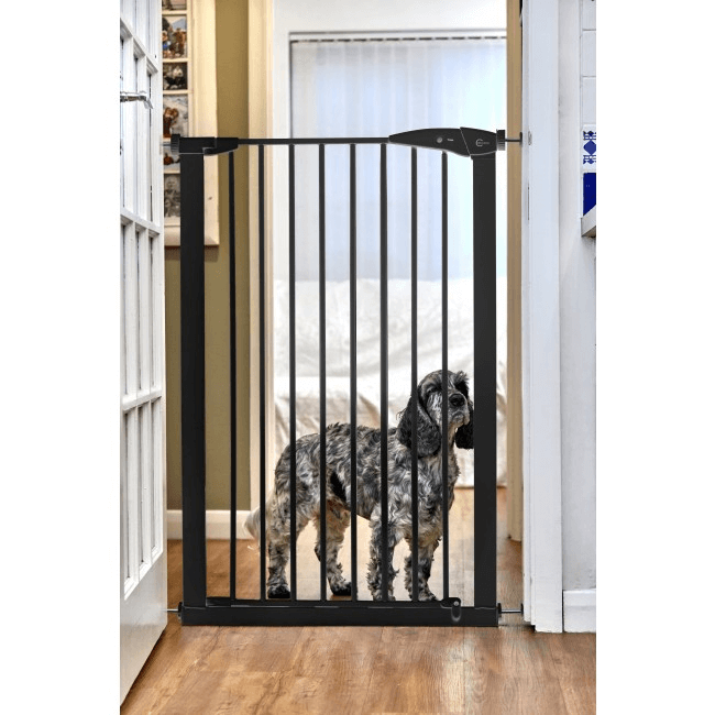 Callowesse Extra Tall Pet Gate - 75cm - 82cm wide and 110cm tall - Black