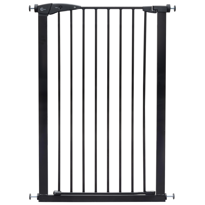 Callowesse Extra Tall Pet Gate – 75cm – 82cm wide and 110cm tall – Black