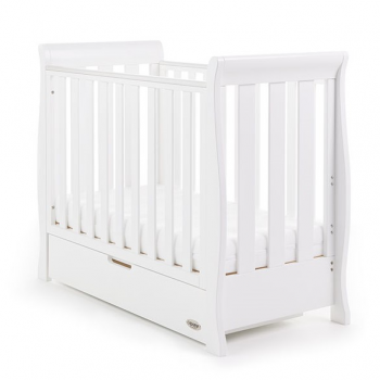 Obaby Stamford Space Saver Cot – White