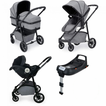 Ickle Bubba Moon i-Size Travel System with ISOFIX Base – Space Grey