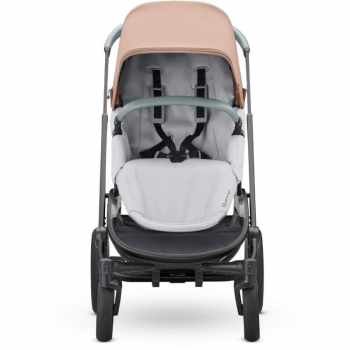 Quinny Hubb Stroller and Hux Carrycot – Cork on Grey/Grey