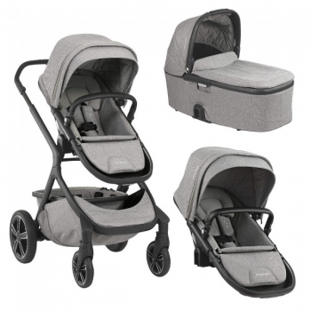 Nuna Demi Grow Double Pushchair and Carrycot – Frost