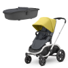 Quinny Hubb Stroller and Hux Carrycot – Ochre on Graphite/Graphite