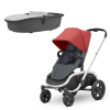Quinny Hubb Stroller and Hux Carrycot – Red Graphite/Grey