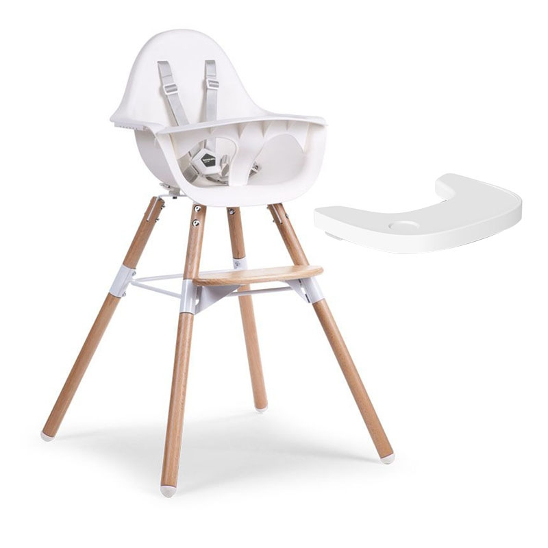 Childhome Evolu 2 Highchair and Tray – White