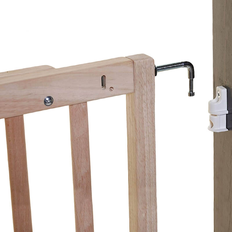 Dreambaby Hudson Gro-Gate® Child Toddler Safety Stair Gate Barrier Natural Wood