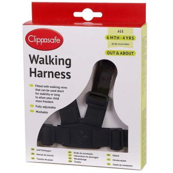 Clippasafe Walking Harness – Black