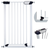 Callowesse Saluki Tall and Narrow Pet Gate – Auto-Close Pressure Fitted – 65cm – 70cm wide and 96cm tall