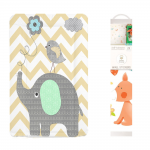 Callowesse Baby Changing Mat - Elephant Chevron + FREE Decorative Nursery Wall Stickers - Forest Friends