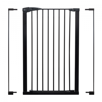 Callowesse Extra Tall Pet Gate – 75cm – 96cm wide and 110cm tall – Black