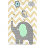 Callowesse Baby Changing Mat - Elephant Chevron