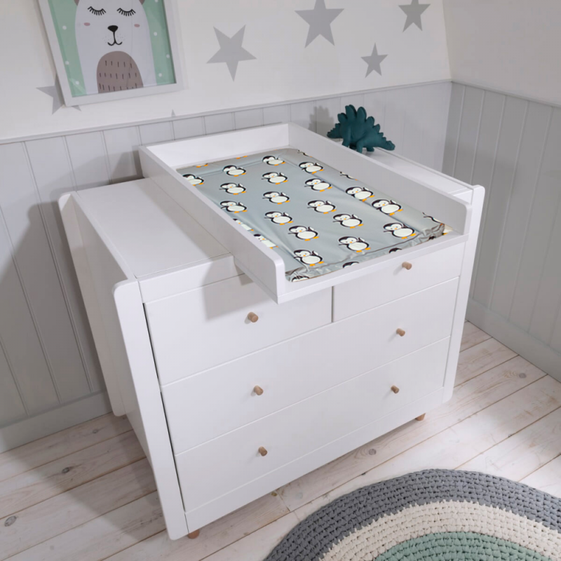 Callowesse Changing Mat - Grey Penguins