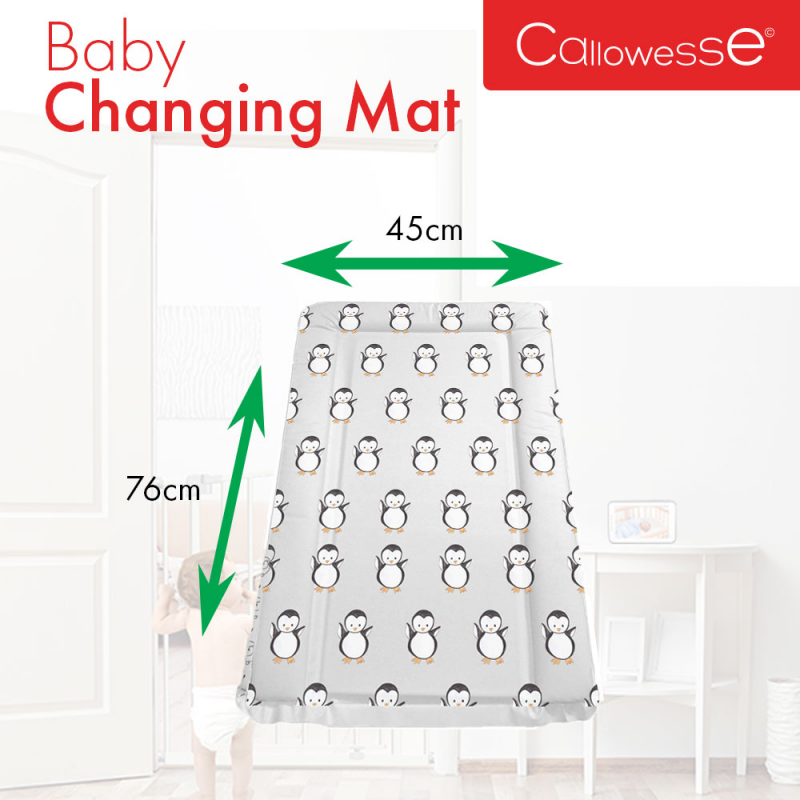 Callowesse Baby Changing Mat – Grey Penguin