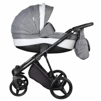 Mee-Go New Milano Travel System Bundle - Dove Grey - Side View