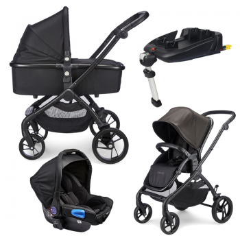 Mee-go Plumo Travel System Package With ISOFIX Base – Phantom Black