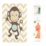 Callowesse Baby Changing Mat - Monkey Chevron + FREE Decorative Nursery Wall Stickers - Forest Friends