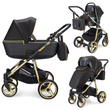 Mee-go Santino Special Edition Travel System Package - Gold Leaf (10 Piece Bundle)