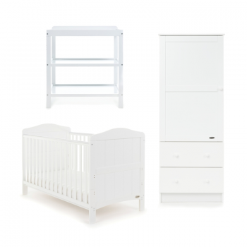 Obaby Whitby 3 Piece Room Set – White