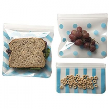 J L Childress See 'N Save 3 Piece Reusable Food and Snack Bag – Blue