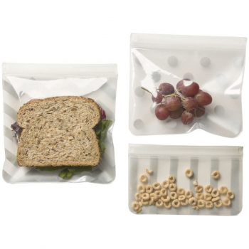 J L Childress See 'N Save 3 Piece Reusable Food and Snack Bag – Grey