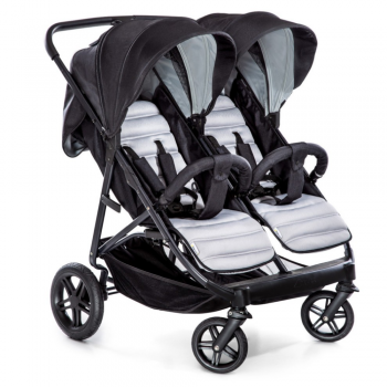 Hauck Rapid 3R Duo Double Pushchair – Silver/Charcoal
