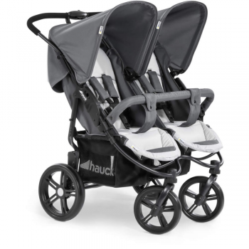 Hauck Roadster Duo SLX Double Pushchair – Grey/Silver