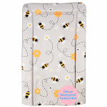Callowesse Changing Mat Deluxe Waterproof with Raised Edges - Grey Bee