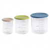 Beaba Set Of 3 Conservation Jars – Assorted Colours