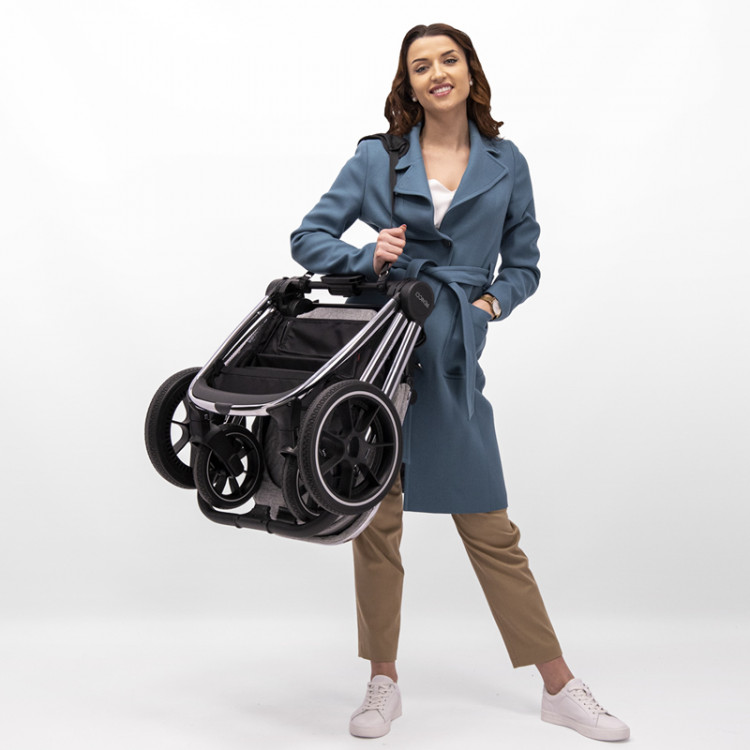 Venicci Tinum 3 in 1 Travel System – Camo Grey (12 Piece Bundle)