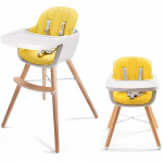 Callowesse Elata 3-in-1 Wooden Highchair - Yellow