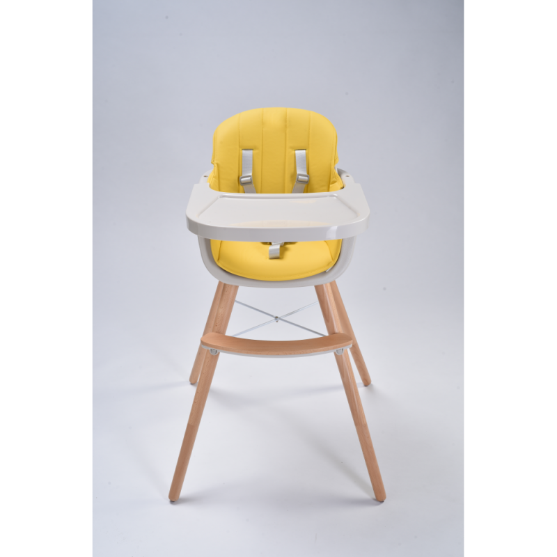 Callowesse Elata 3-in-1 Wooden Highchair – Yellow