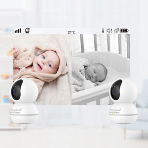 Callowesse RoomView Baby Video Monitor Split Screen
