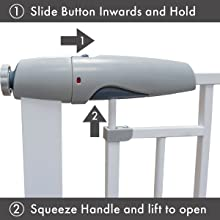 Callowesse Magnetic Freedom Baby Gate How to Operate
