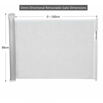 Callowesse Omni Directional Retractable Stair Gate Dimensions