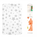 Callowesse Baby Changing Mat – Grey Stars + FREE Decorative Nursery Wall Stickers - Forest Friends