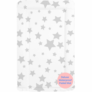 Callowesse Baby Changing Mat - Grey Stars