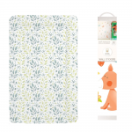 Callowesse Baby Changing Mat – Pastel Leaves + FREE Decorative Nursery Wall Stickers - Forest Friends