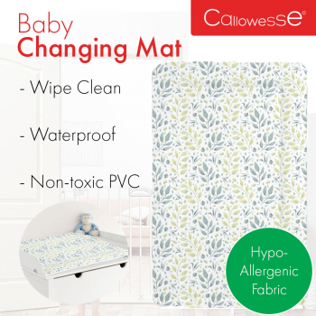 Callowesse Baby Changing Mat – Pastel Leaves