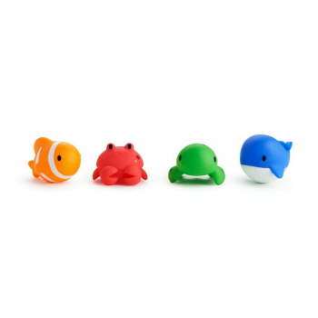 Munchkin Floating Ocean Animal Themed Bath Squirt Toys – Pack of 4