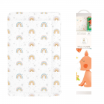 Callowesse Baby Changing Mat – Rainbow Stars + FREE Decorative Nursery Wall Stickers - Forest Friends